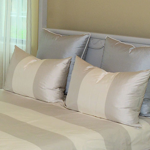 Custom Upholstery Pillows and Bedding Set designed by BPOSCH Interior Design