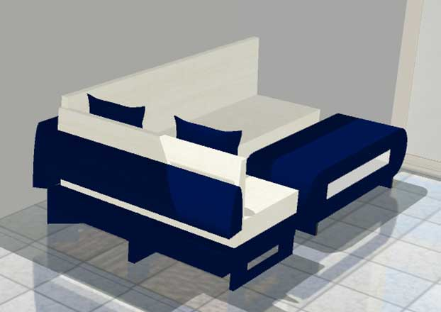 3D CAD Design Drawing of Custom Wicker Furniture from Shape of Wicker Naples, Florida